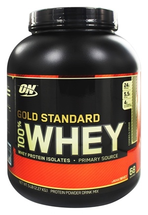 Optimum Nutrition - 100% Whey Gold Standard Protein Cookies & Cream - 5 lbs.