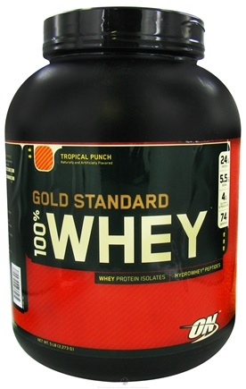 DROPPED: Optimum Nutrition - 100% Whey Gold Standard Protein Tropical Punch - 5 lbs. CLEARANCE PRICED