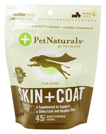 Pet Naturals of Vermont - Skin & Coat Support for Dogs Soft Chews - 45 Chewables