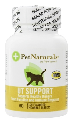 DROPPED: Pet Naturals of Vermont - Urinary Tract Support for Cats Fish Flavor - 60 Chewable Tablets