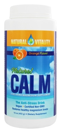 Natural Vitality - Natural Calm Anti-Stress Drink Orange Flavor - 16 oz.