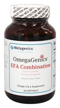 Metagenics - OmegaGenics EFA Combination Natural Lemon Flavor - 60 Softgels (formerly Omega-EFA)