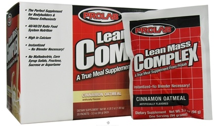 DROPPED: Prolab Nutrition - Lean Mass Complex Cinnamon Oatmeal - 20 Pack(s)