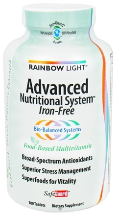 DROPPED: Rainbow Light - Advanced Nutritional System SafeGuard Iron-Free Multivitamin - 180 Tablets
