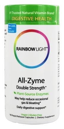 Rainbow Light - All-Zyme Double Strength - 180 Vegetarian Capsules