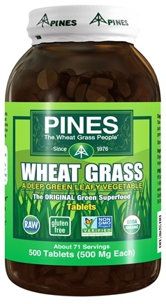 Pines - Wheat Grass Tabs 500 mg. - 500 Tablets