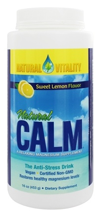 Natural Vitality - Natural Calm Anti-Stress Drink Sweet Lemon Flavor - 16 oz.