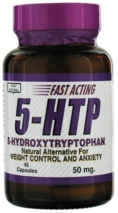DROPPED: Only Natural - 5-HTP-Hydroxytryptophan 50 mg. - 45 Capsules CLEARANCE PRICED