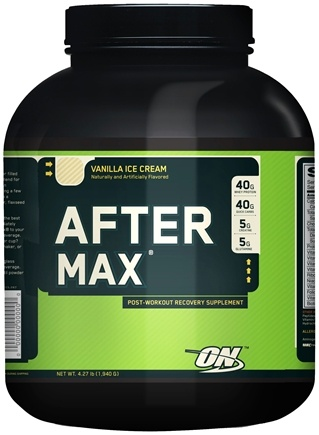 DROPPED: Optimum Nutrition - After Max Post-Workout Maximum Recovery Vanilla Ice Cream - 4.27 lbs. CLEARANCE PRICED