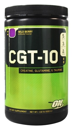 DROPPED: Optimum Nutrition - CGT 10 Creatine Glutamine Taurine Wild Berry - 1.32 lbs.