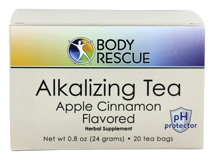 Body Rescue - Alkalizing Tea Apple Cinnamon Flavor - 20 Tea Bags