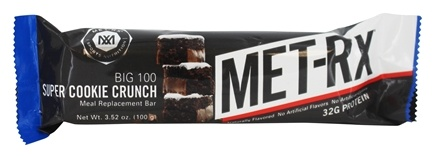 MET-Rx - Big 100 Colossal Meal Replacement Bar Super Cookie Crunch - 3.52 oz.
