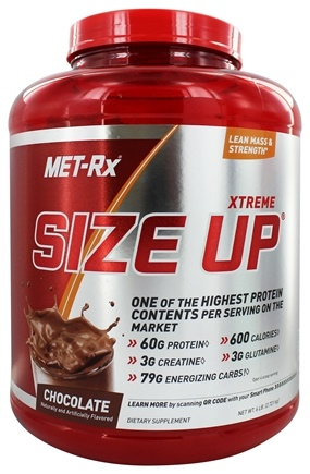 DROPPED: MET-Rx - Xtreme Size Up Chocolate - 6 lbs.