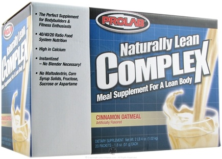 DROPPED: Prolab Nutrition - Naturally Lean Complex Cinnamon Oatmeal - 20 Pack(s)