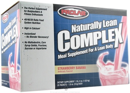 DROPPED: Prolab Nutrition - Naturally Lean Complex¿ Strawberry Banana - 20 Pack(s)