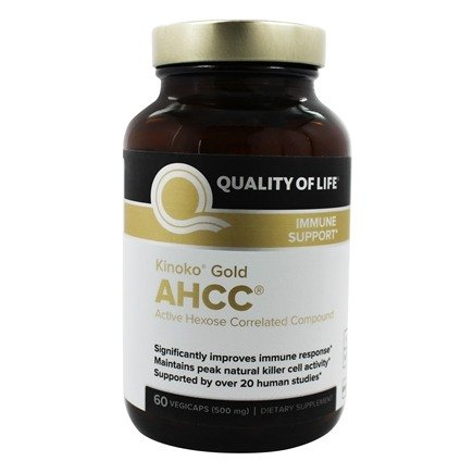 Quality Of Life Labs - Kinoko Gold AHCC 500 mg. - 60 Capsules