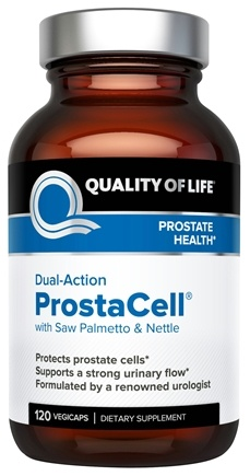 DROPPED: Quality Of Life Labs - Dual-Action Prostacell - 120 Vegetarian Capsules Formerly PR Complex