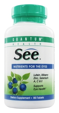 Quantum Health - SEE with Lutein, Nutrition for Eyes - 180 Tablets