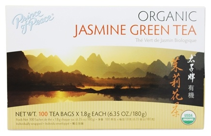 Prince of Peace - Organic Jasmine Green Tea - 100 Tea Bags