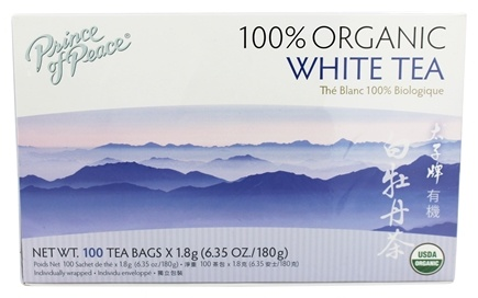 Prince of Peace - 100% Organic White Tea - 100 Tea Bags