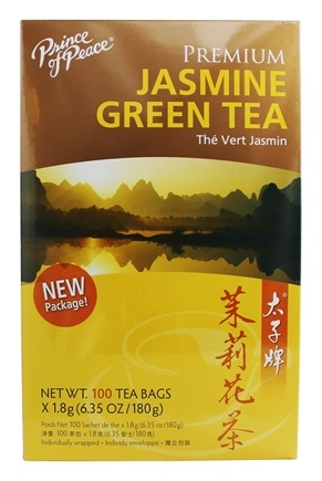 Prince of Peace - Premium Jasmine Green Tea 100% Natural - 100 Tea Bags