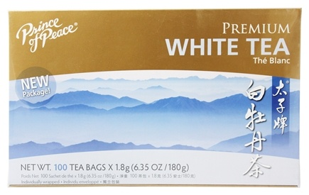 Prince of Peace - Premium Peony White Tea 100% Natural - 100 Tea Bags