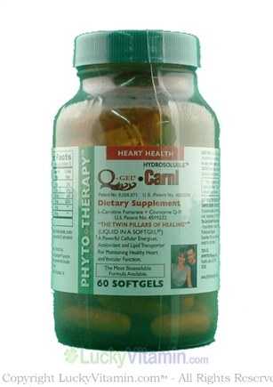 DROPPED: Phyto Therapy - Carni-Q Gel Plus - 60 Softgels