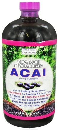 DROPPED: Only Natural - Acai Liquid - 32 oz. CLEARANCE PRICED