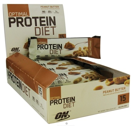 DROPPED: Optimum Nutrition - Optimal Protein Diet Bar Peanut Butter - 1.76 oz. Formerly Complete Protein Diet