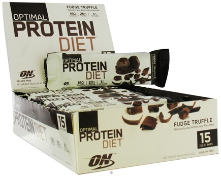 DROPPED: Optimum Nutrition - Optimal Protein Diet Bar Fudge Truffle - 1.76 oz. Formerly Complete Protein Diet