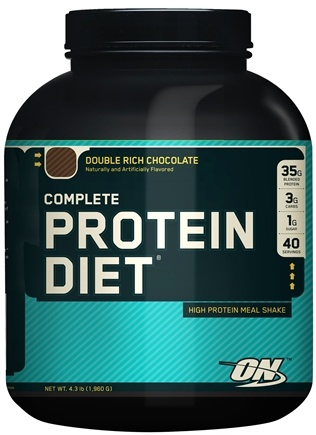 DROPPED: Optimum Nutrition - Complete Protein Diet Economy Chocolate - 4.3 lbs.