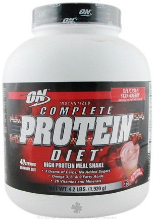 DROPPED: Optimum Nutrition - Complete Protein Diet Economy Strawberry - 40 Packet(s)