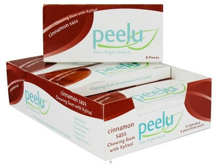 DROPPED: Peelu - Chewing Gum with Xylitol Cinnamon Sass - 8 Piece(s)