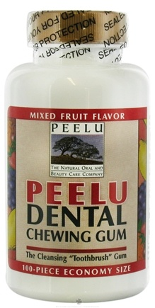 DROPPED: Peelu - Dental Chewing Gum Fruit Flavor Fruit - 100 Piece(s) CLEARANCE PRICED