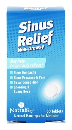 NatraBio - Sinus Relief - 60 Tablets
