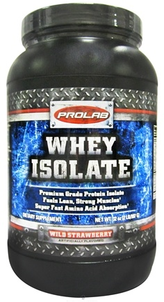 DROPPED: Prolab Nutrition - Whey Protein Isolate Powder Wild Strawberry - 2 lbs. CLEARANCE PRICED