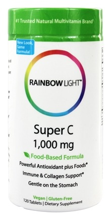 Rainbow Light - Super C 1000 mg. - 120 Tablets