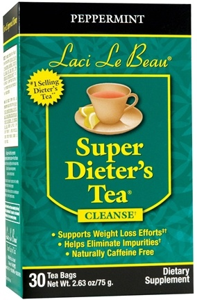 DROPPED: Laci Le Beau - Super Dieter's Tea Peppermint Caffeine Free - 30 Tea Bags CLEARANCE PRICED