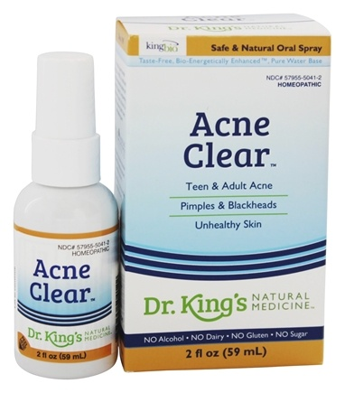 King Bio - Homeopathic Natural Medicine Acne Clear - 2 oz.