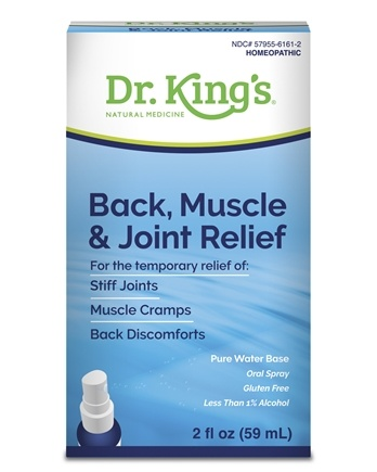 King Bio - Homeopathic Natural Medicine Back Muscle & Joint Relief - 2 oz.