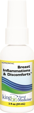 DROPPED: King Bio - Homeopathic Natural Medicine Breast Inflammations & Discomforts - 2 oz. CLEARANCE PRICED