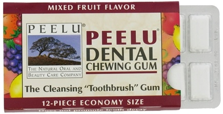 DROPPED: Peelu - Dental Chewing Gum Mixed Fruit Flavor Fruit - 12 Piece(s)
