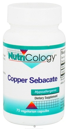 DROPPED: Nutricology - Copper Sebacate 4 mg. - 75 Capsules CLEARANCE PRICED