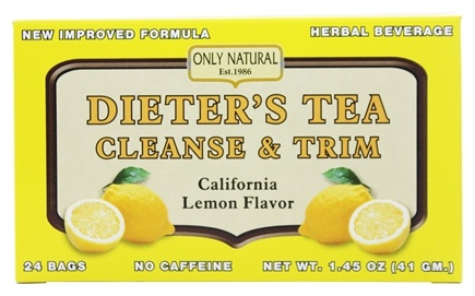 Only Natural - Dieter's Tea Cleanse & Trim California Lemon Flavor - 24 Tea Bags