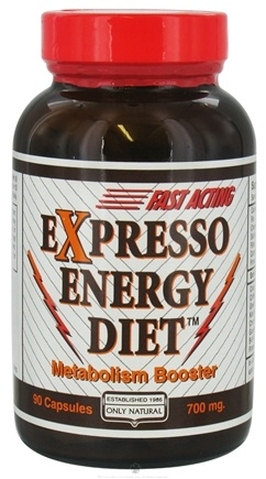 DROPPED: Only Natural - Expresso Energy Diet - 90 Capsules CLEARANCE PRICED