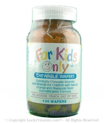 DROPPED: Only Natural - For Kids Only Pineapple - 120 Chewable Wafers