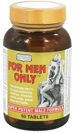 DROPPED: Only Natural - For Men Only Super Potent Male Formula - 60 Tablets CLEARANCED PRICED