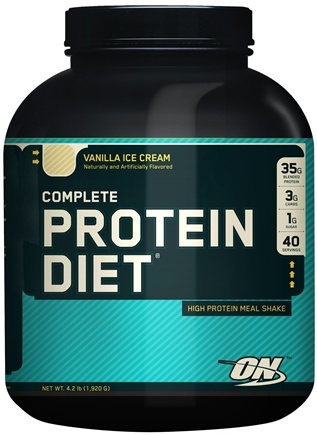DROPPED: Optimum Nutrition - Complete Protein Diet Economy Vanilla - 40 Packet(s)
