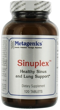 DROPPED: Metagenics - Sinuplex Ephedra-Free Sinus and Lung Support - 120 Tablets