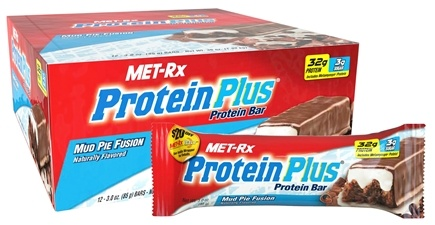 DROPPED: MET-Rx - Protein Plus Protein Bar Mud Pie Fusion - 3 oz.